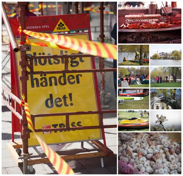 Ute frilufts matmässa i Eskilstuna