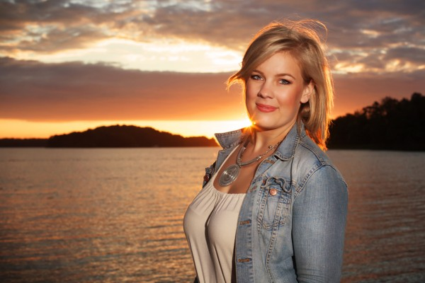 Amanda i solnedgången