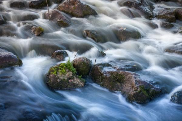 Vatten med lång slutare
