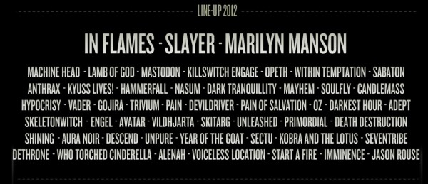 Metaltown Lineup