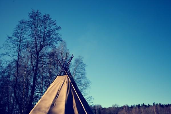 Indiantält i Skjulsta